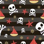 Pirate theme Seamless pattern