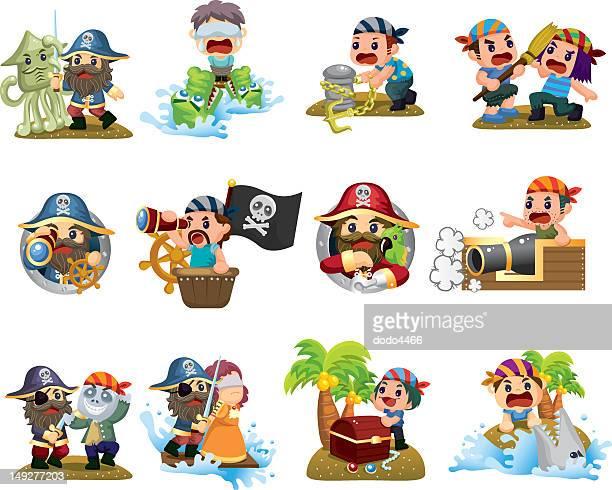 60点の海賊のイラスト素材クリップアート素材マンガ素材アイコン