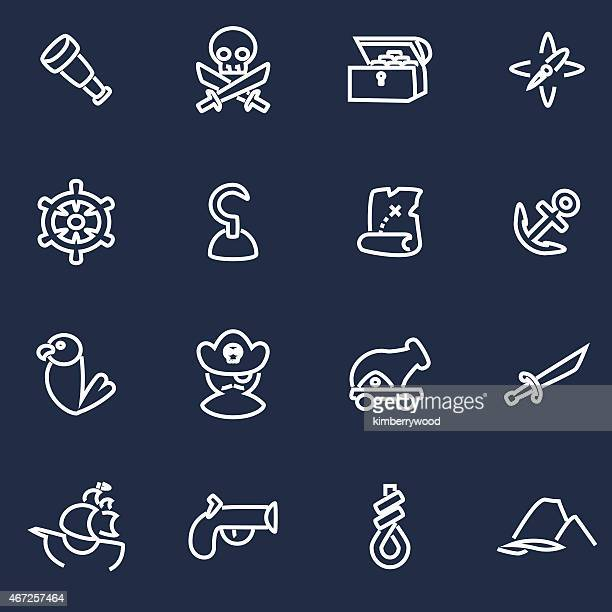 pirate - chest torso stock illustrations, clip art, cartoons, & icons