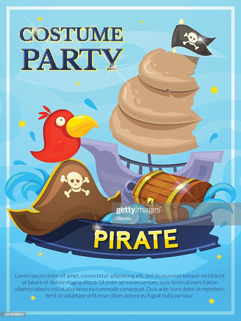 Pirate vector poster
