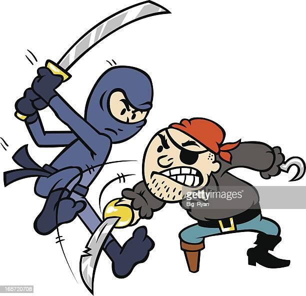 pirate vs. ninja