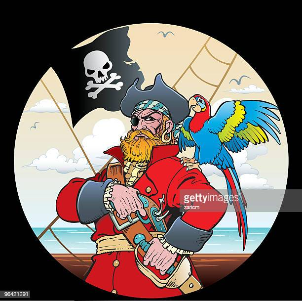 Pirate with parrot