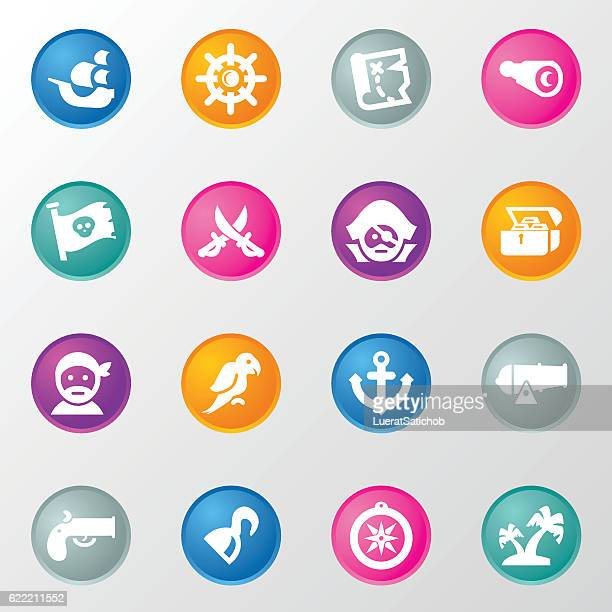 Pirates Circle Color Icons