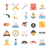 Pirates Flat Icons Pack