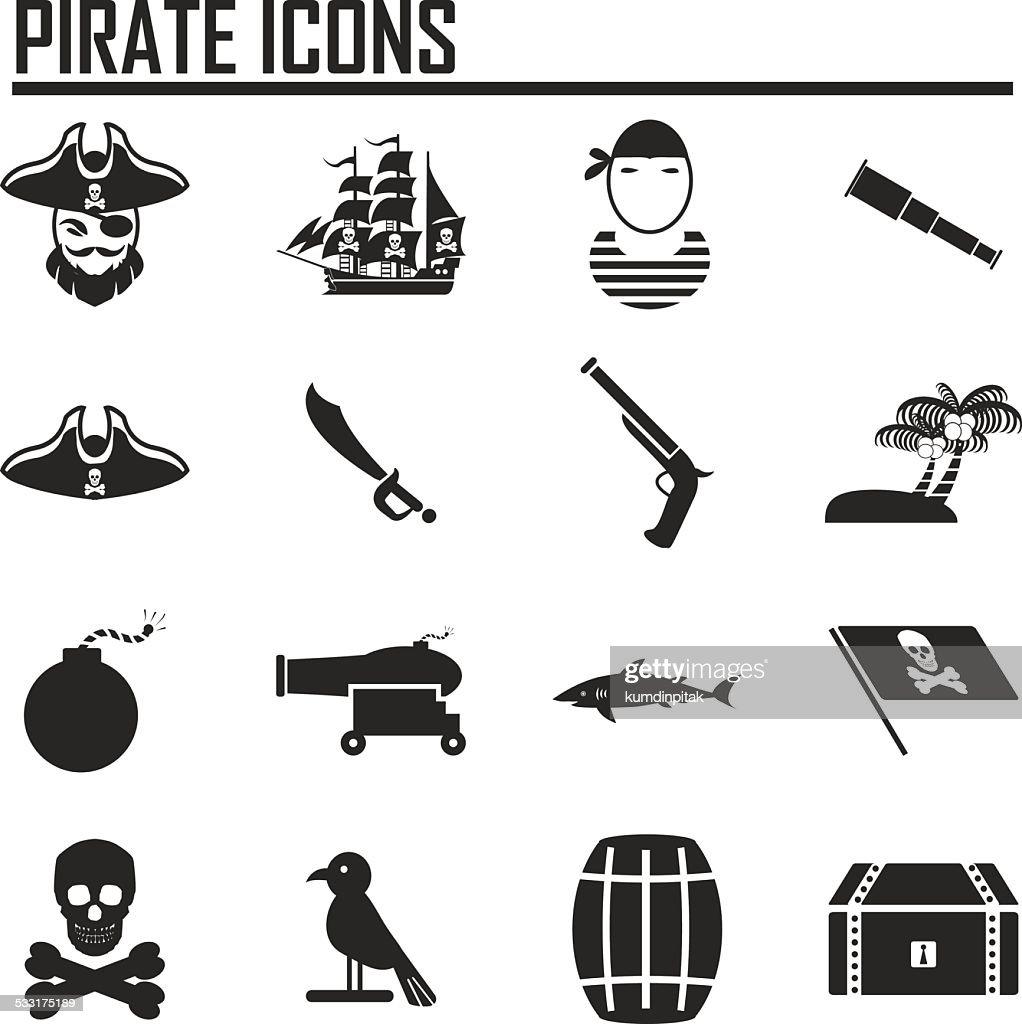 pirates icon set