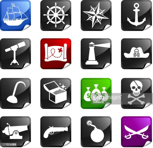 Piratas dieciséis sin royalties de iconos