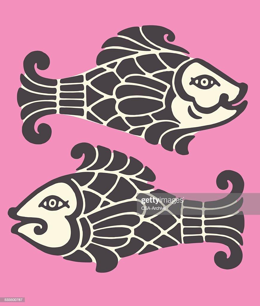 Pisces Zodiac Symbol Vector Art