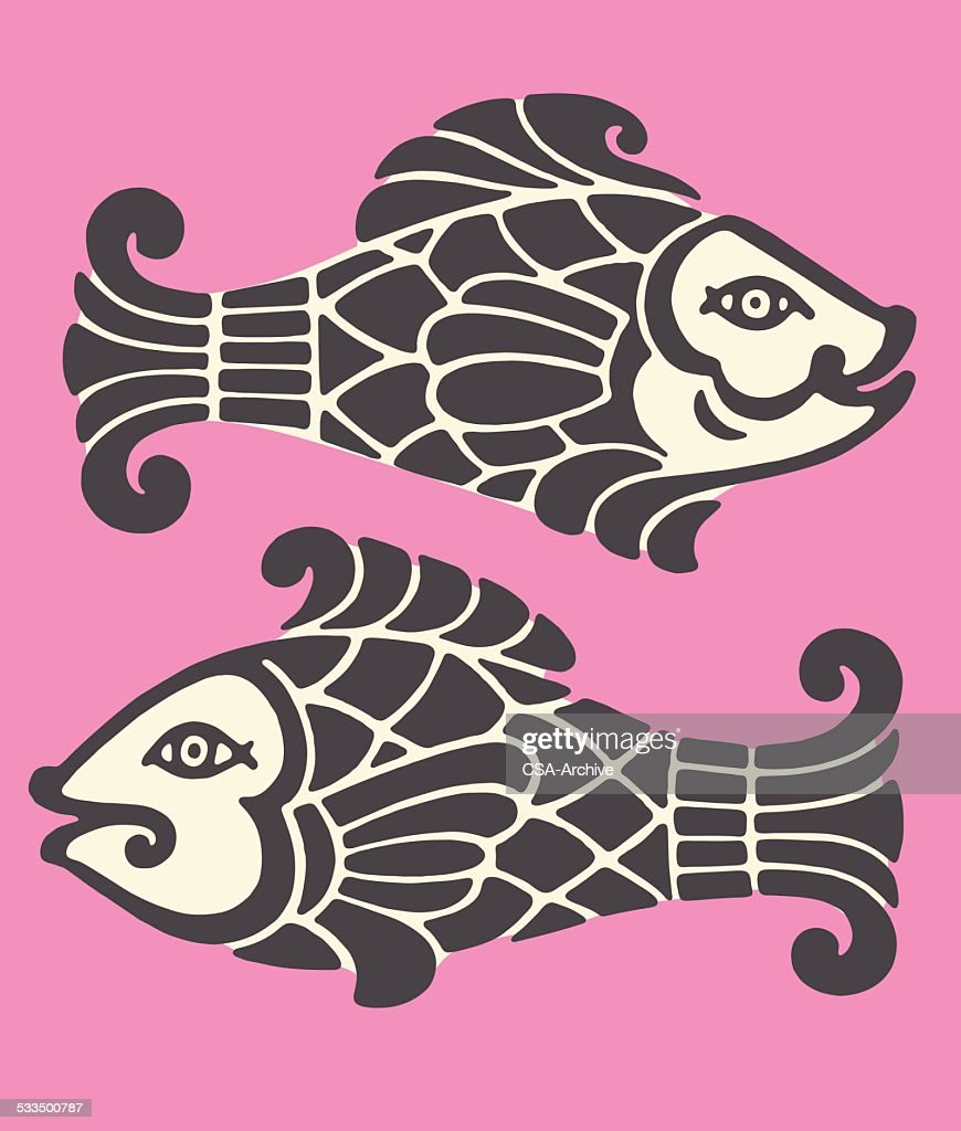 Pisces Zodiac Symbol Vector Art Getty Images