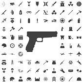 Pistol Gun Icon Vector Illustration