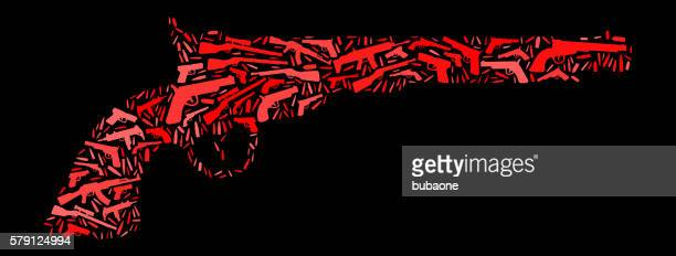 Pistol hand gun Gun Icon Pattern Background