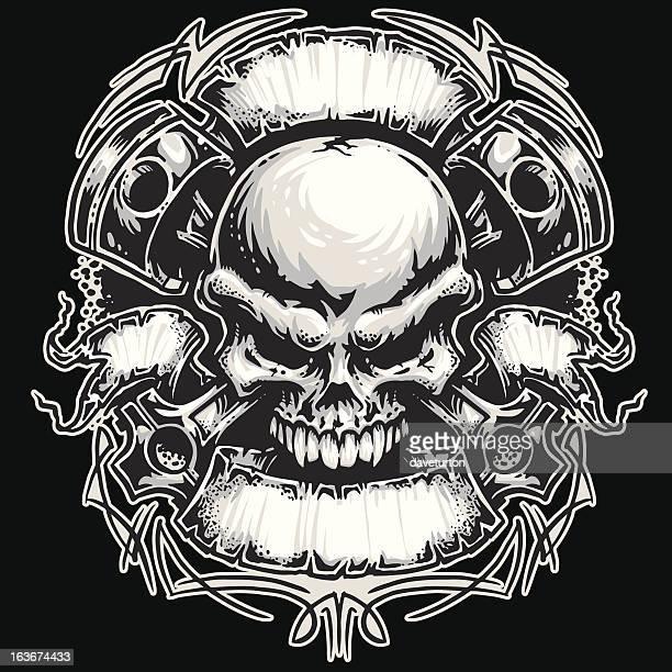 Pistons, Skull and Banners MotorHead Series