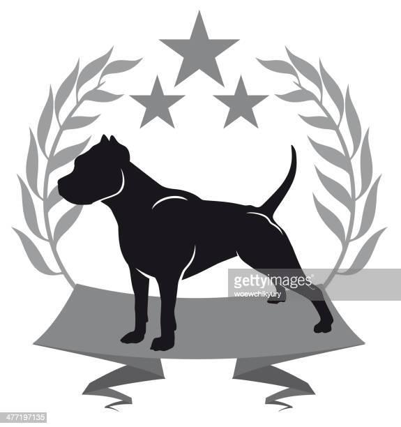 ilustraciones, imágenes clip art, dibujos animados e iconos de stock de pit bull - pit bull terrier