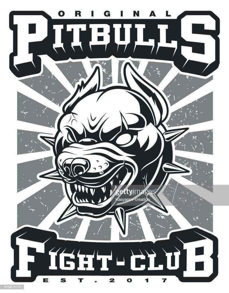 Pit bull vector illustration