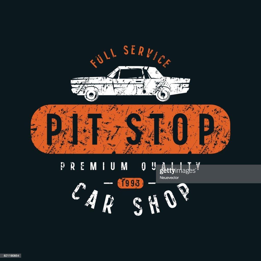 Pit stop emblem