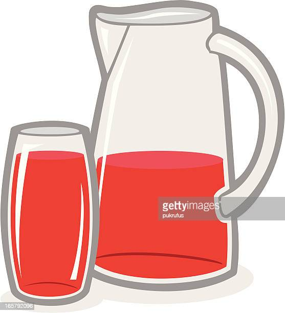 pitcher and punch - juice drink stock illustrations, clip art, cartoons, & icons