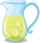 Pitcher of lemon juice