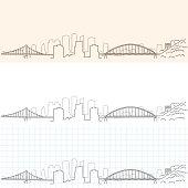 Pittsburgh Hand Drawn Skyline