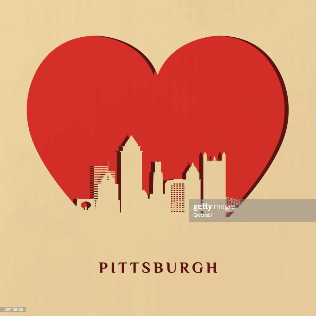 Pittsburgh skyline on the Big heart.