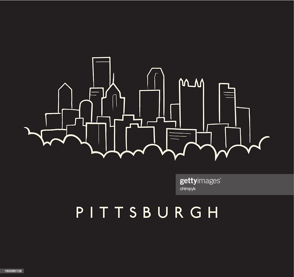 Pittsburgh Skyline Sketch