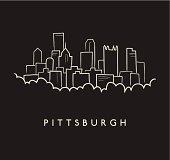 Pittsburgh Skyline Sketch