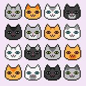 Pixel Black Cat Character Stock Vector Freeimagescom
