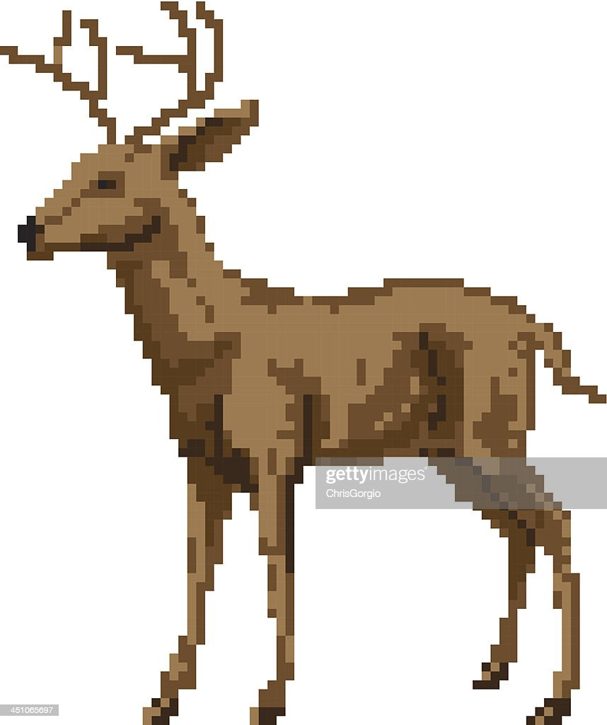 Pixel art deer illustration