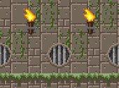 Pixel Art Dungeon Seamless Horizontal Pattern
