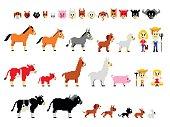 Pixel Art Farm Characters
