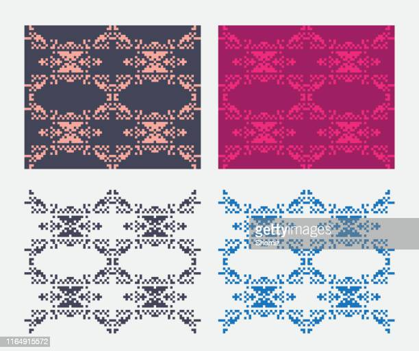 Pixel art pattern