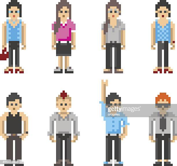 Pixel Art People - Teenager