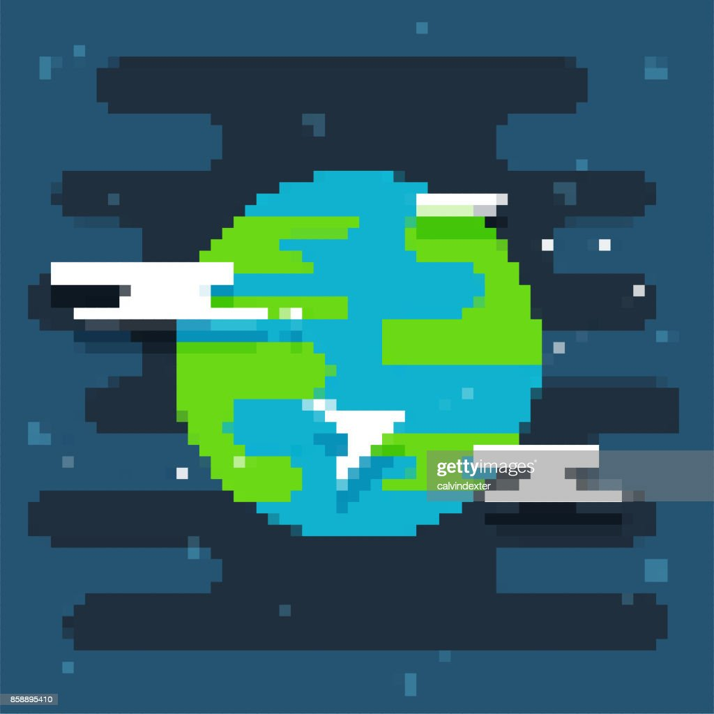 Pixel art planet