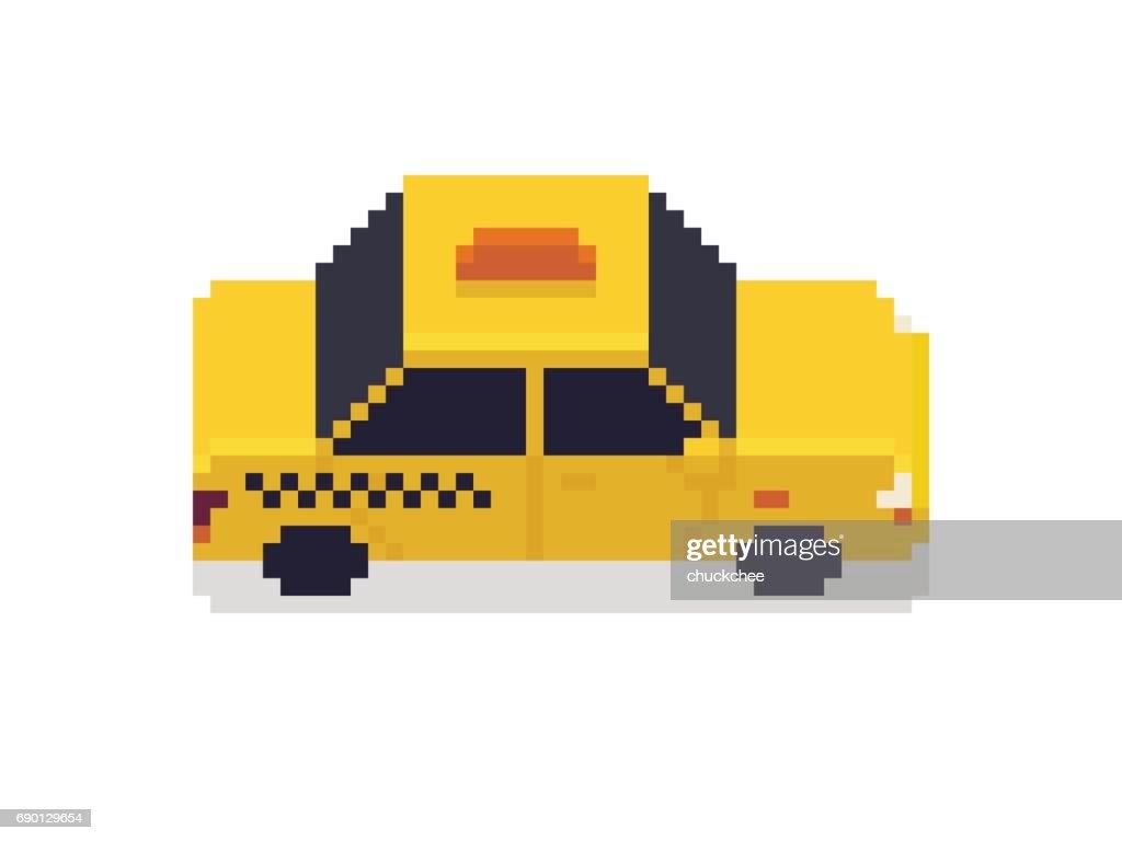 Pixel Art Taxi