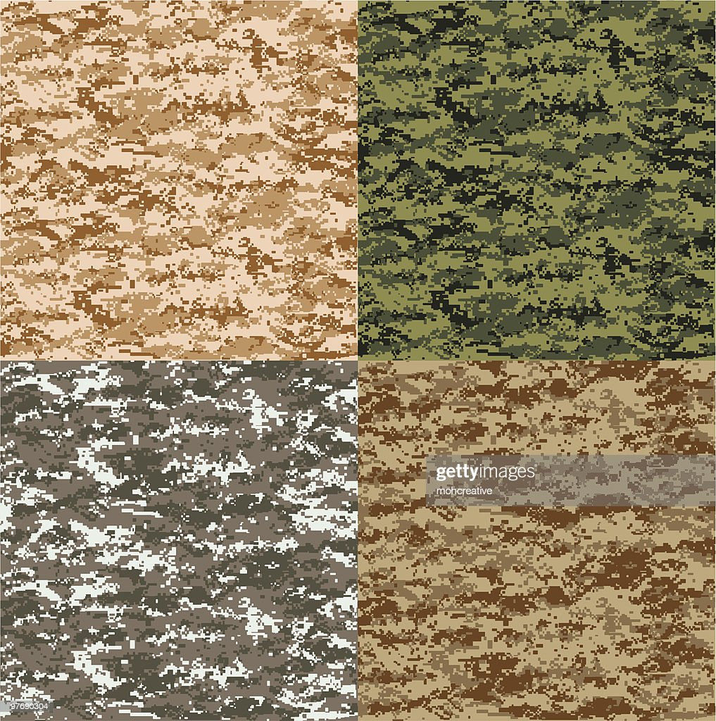 Pixel Camouflage in 4 Colors