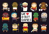 Pixel Game Characters