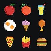 Pixel Icon Set - 90's set - Pixel - Pixel Foods