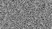 Pixel Noise Vector. VHS Glitch Texture TV Screen. Static Error. Introduction And The End Of The TV Programming