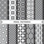 pixel pattern, textile, pattern fills, web page background, surf