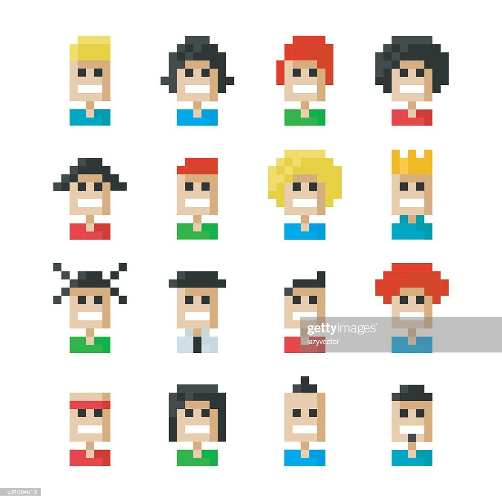 Pixel people faces