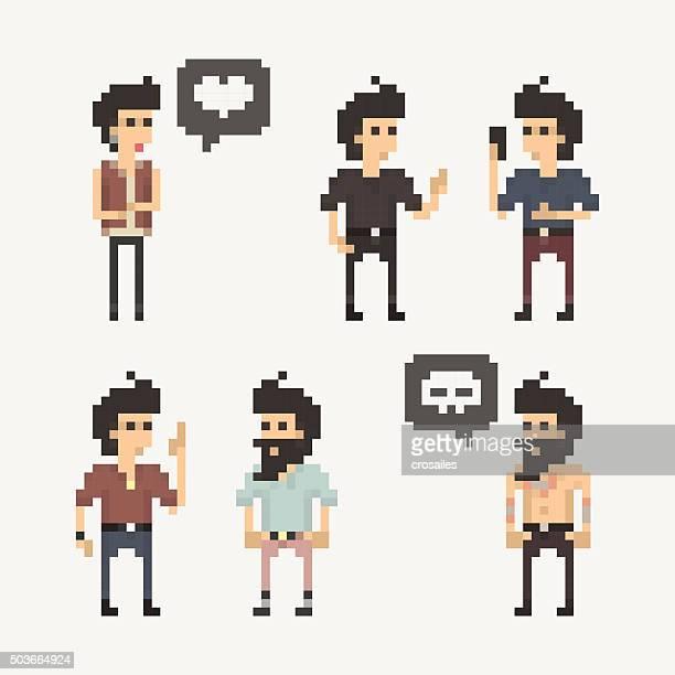 Pixel People - Friends Talking