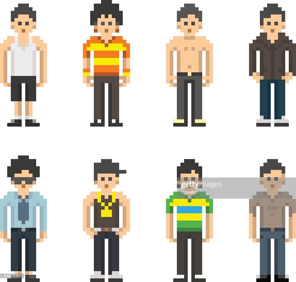 Pixel People - Men
