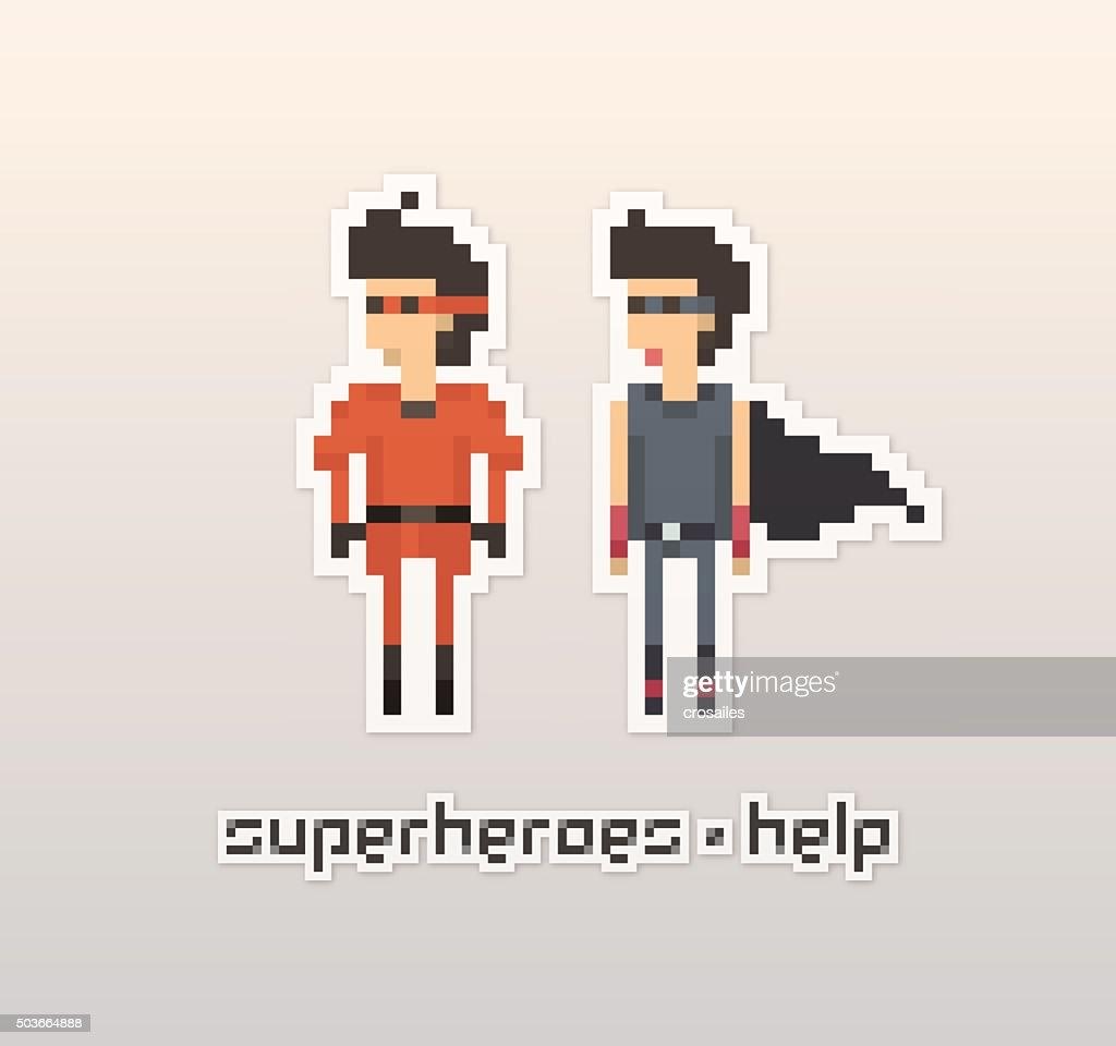 Pixel People - Superhero Sticker
