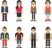 Pixel People - Teenage Boys and Girls