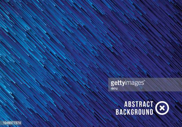 Pixel Rain Fall Abstract Texture Blue Background