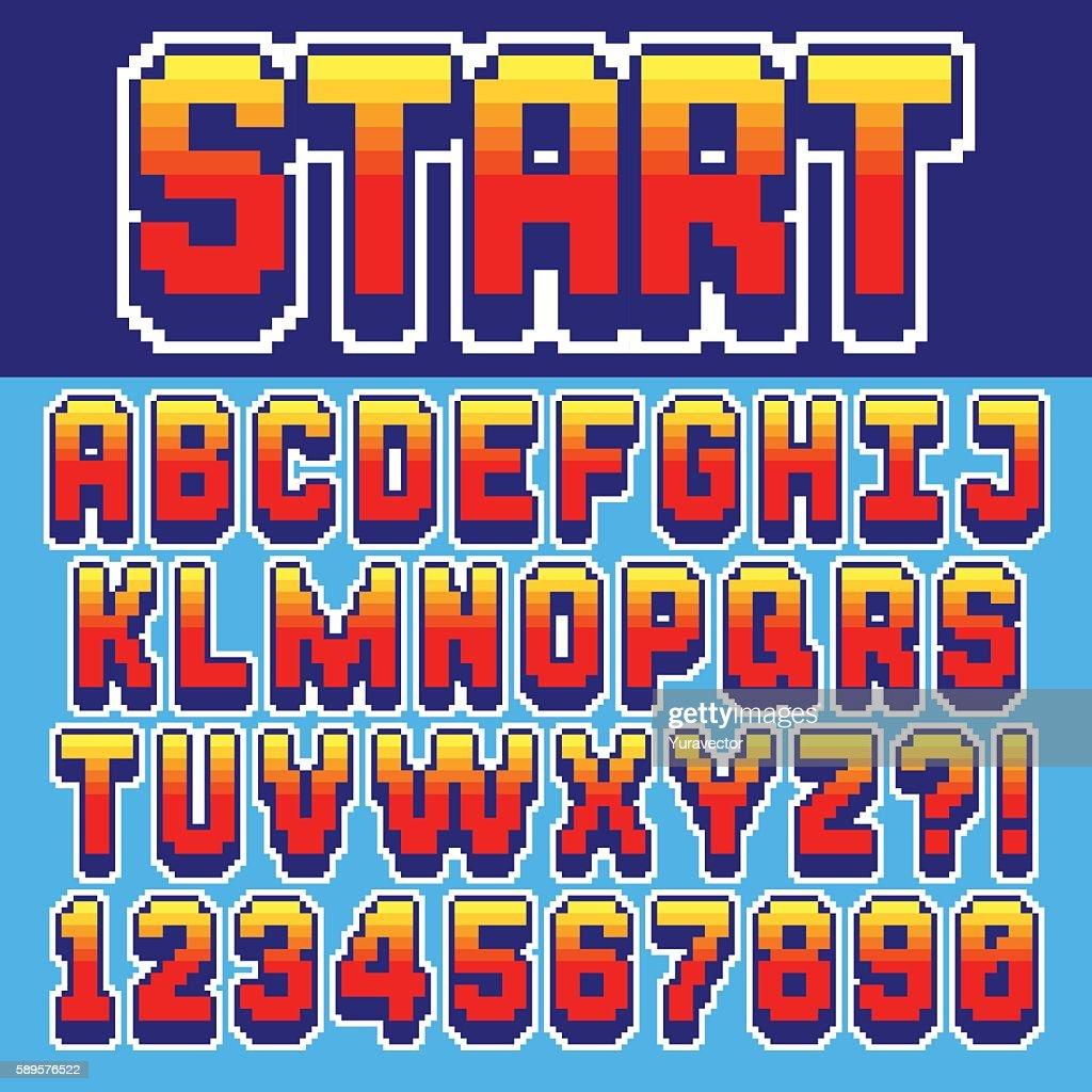 Pixel retro font
