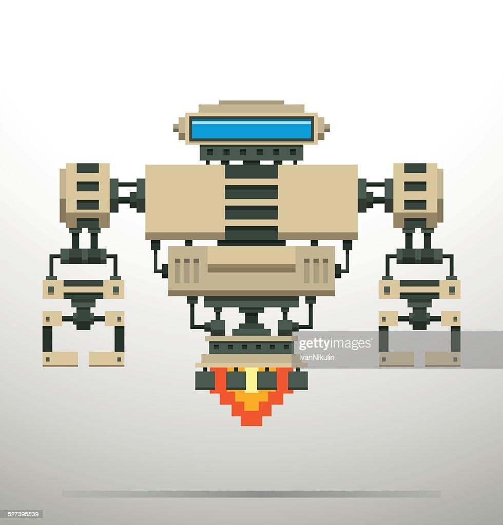 Pixel Robot, white