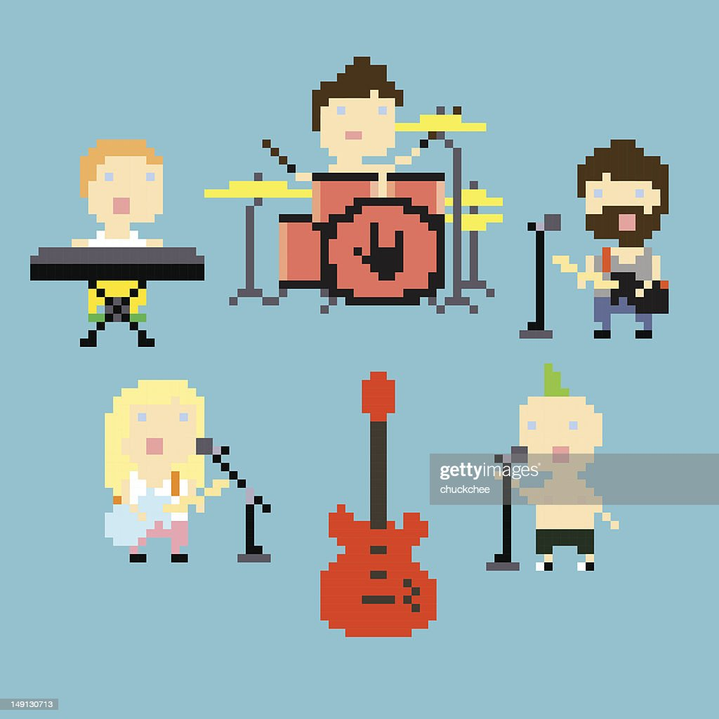 Pixel rock band