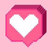 Pixel thumb up icon_pink