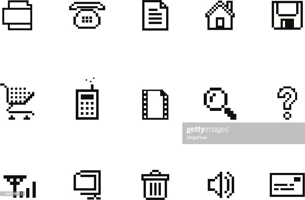 Pixel  Website & Internet Icon Set