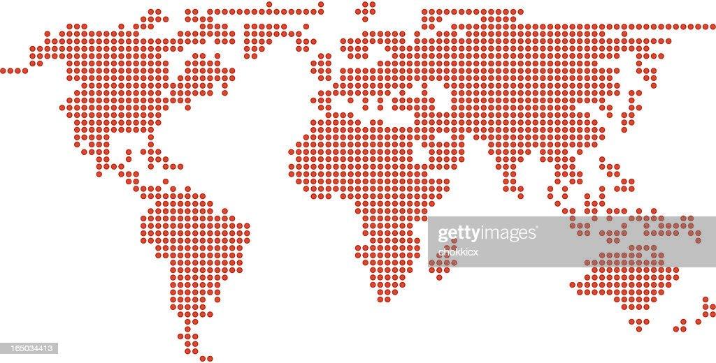 Pixel world map vector art getty images pixel circular world map vector art gumiabroncs Choice Image