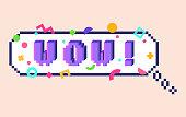 Pixel WOW sticker